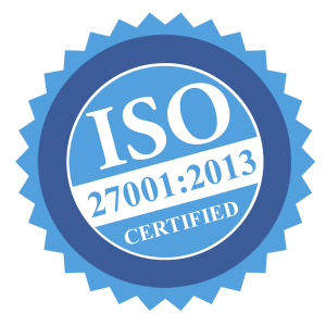 We are ISO 27001:2013 certified